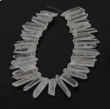 natural clear white quartz crystal