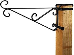 15 Fence Post Bracket Simply Slips Over The Top Of Any 8cm X 8cm Post Designed To Fit Over Most Standard Wooden Fence Posts Premium 15 Hanging Basket Bracket Amazon Co Uk