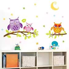 Removable Waterproof Cartoon Animal Owl Wall Sticker For Kids Rooms Ho Nicerin Best Goods Free Shipping