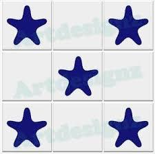 Starfish Tile Stickers Bathroom Star Fish Vinyl Wall Decal Transfer 70x70mm Ebay
