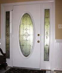 small oval leaded glass door inserts