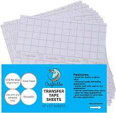 Amazon Com Craftables Clear Vinyl Tranfser Paper Tape Sheets W Alignment Grid And Easy Release Paper 12 X 12 10 Sheets Application Tape For Cameo Cricut Vinyl Decals Signs Windows Stickers Arts Crafts