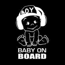 12x18cm Baby On Board Vinyl Sticker Car Decal Sticker For Car Window Funny Cute Cool Boy Design Waterproof New Ta126 Shop The Nation