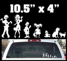 Funny Stick Figure Zombie Family Rear Window Decal 3 00 Picclick