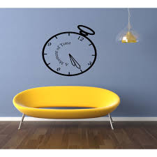 Shop A Moment In Time Clock Wall Art Sticker Decal Overstock 11521806