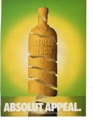 absolut vodka vine print magazine ad