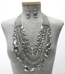 crystal beaded necklace set