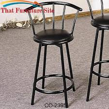 bar stool with faux leather swivel seat