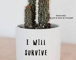 Plant Decals Etsy