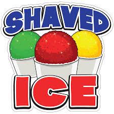 Shaved Ice Decal Concession Stand Food Truck Sticker Walmart Com Walmart Com