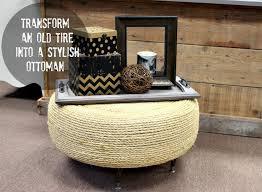 easy diy tire ottoman