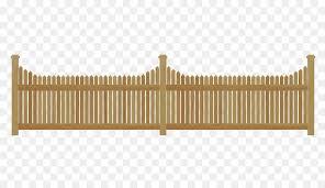 House Cartoon Clipart Fence Design Wood Transparent Clip Art