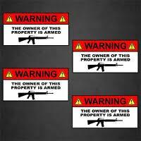 Warning Conservative Gun Owner Vinyl Car Decal Sticker 6 G99 Second Amendment