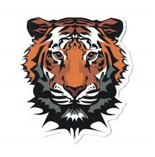 Hybsk Tiger Face Mascot Animal Art Decor Bumper Sticker 30 Pcs Buy Scratch Proof Printing Promotional Best India Tiger Decal Car Sticker Tiger And Lion Face Design Iron On Printing Sticker For Window Animal
