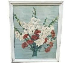 Antique Shabby Chic Flowers Watercolor Print Painting Amy Amelia ...