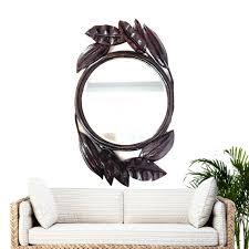 vintage mirror sculpted palm leaf 54