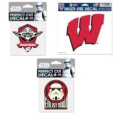 Wisconsin Badgers Official Ncaa Star Wars Yoda Die Cut Car Decal Car Window Cling Decalstar Wars Storm Trooper Die Cut Car Decal Bundle 0 Items Walmart Com Walmart Com