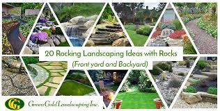20 rocking landscaping ideas with rocks