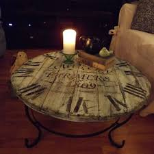 wood pallet crafted clock coffee table