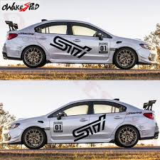 1set Both Side Racing Sport Stripes Styling Car Door Decor Stickers Vinyl Decals For Subaru Wrx Sti Auto Body Accessories Buy At The Price Of 30 59 In Aliexpress Com Imall Com
