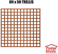 6ft X 3ft Wooden Square Trellis Fence Panels Total Sheds 6x3 Pack Of X3 1 83m X