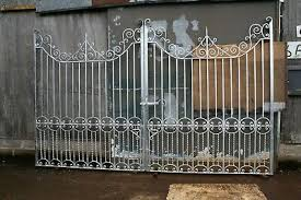 Galvanized Victorian Design Double Wrought Iron Driveway Gates 12 Ft Opening Ebay
