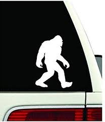 Amazon Com Bigfoot Decal Car Truck 4x4 Yeti Sasquatch Sticker Vinyl Off Road 11 Inches White Arts Crafts Sewing