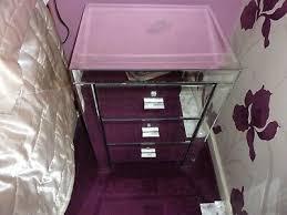 furniture 2x venetian mirrored 3 drawer