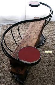 Pin by Myrna Butler on Furniture | Metal furniture, Homemade bench, Wood  furniture
