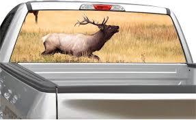 Amazon Com Elk Buck Field Rear Window Graphic Decal For Truck Suv 4 Sizes 14 X 53 Automotive