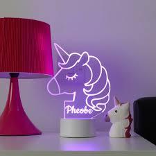 Unicorn Night Light Kids Bedroom Decor Children S Etsy