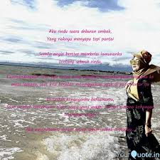 aku rindu suara deburan o quotes writings by vivi dinatya