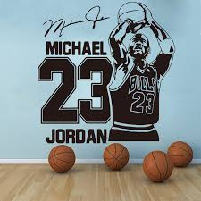 Michael Jordan Wall Decal Sport Basketball Home Decor 23 Bulls Art Vinyl Wall Sticker Decal Boy Room Kids Room Decoration J135 Buy At The Price Of 5 60 In Aliexpress Com Imall Com