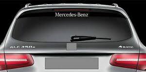 Rear Window Sticker Fits Mercedes Benz Vinyl Decal Emblem Sticker Logo Rw48 Ebay