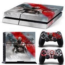 Ps4 Playstation 4 Console Skin Decal Sticker God Of War 2 Controller Design 743031185369 Ebay
