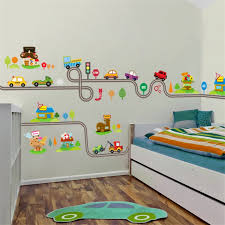 Cartoon Cars Highway Track Wall Stickers For Kids Rooms Sticker Children S Play Room Bedroom Decor Wall Art Decals Sticker For Kids Room Wall Stickers For Kidswall Sticker Aliexpress