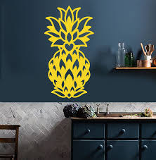 Vinyl Wall Decal Abstract Pineapple Exotic Fruit Food Decor For Kitche Wallstickers4you