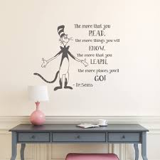 Amazon Com Wall Decal Decor The More That You Read Dr Suess Vinyl Decal Quotes Wall Lettering Classroom Wall Art Sticker Children Kids Wall Decals Dark Gray 21 5 H X28 W Kitchen Dining