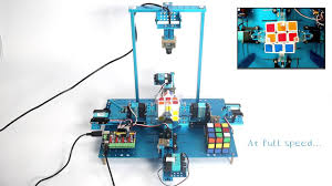 automatic rubik s cube solving machine