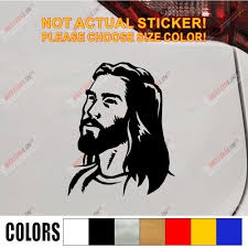 Jesus Face Car Decal Sticker God Christ Vinyl Die Cut No Background Pick Color And Size Style2 Car Decal Sticker Decal Stickercar Decal Aliexpress