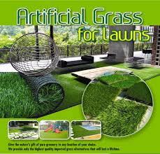 one meter of artificial turf lawn