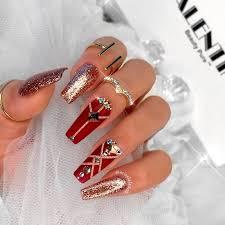acrylic nail designs coffin