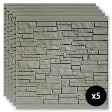 Simtek 6 Ft H X 6 Ft W Ecostone Gray Composite Fence Panel Fp72x72gry The Home Depot