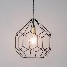 black geometric pendant light