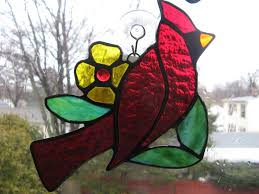 hand crafted deep red stained glass