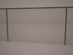 Chain Link Fence 3d Model 3dhunt Co