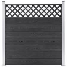 Garden Fence Wpc 180x185 Cm Grey Sale Price Reviews Gearbest