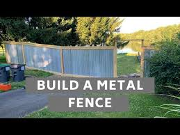 How To Build A Metal Fence Corrugated Roofing Youtube