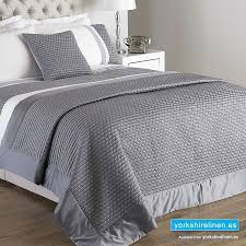 honeycomb white silver bedspread