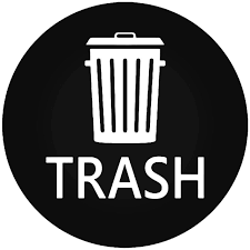 Trash Can Sign 6 Vinyl Decal Sticker